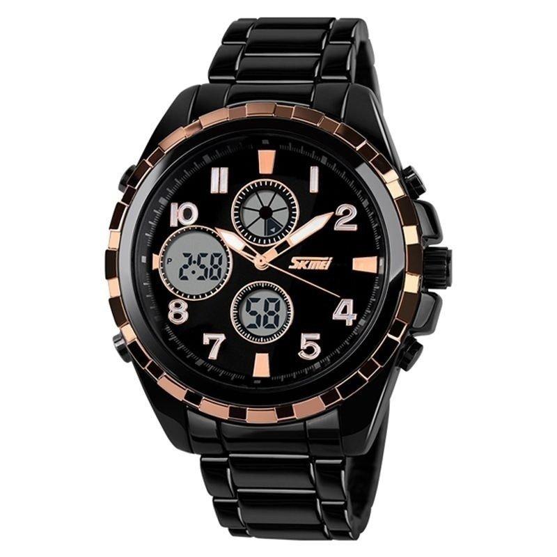 2f1d447f5b9 Relógio Skmei Anadigi 1021 - Dourado - Compre Agora
