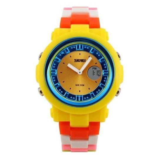 Relógio  Skmei Anadigi 1062 - Amarelo