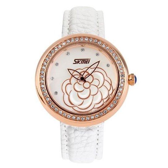 Relógio Skmei Analógico 9087 - Branco+dourado