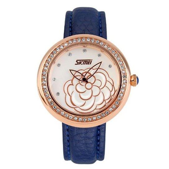 Relógio Skmei Analógico 9087 - Azul+Dourado