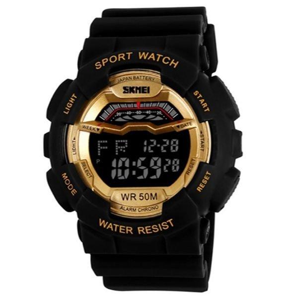 f7a0fe928bf Relógio Skmei Digital 1012 - Dourado - Compre Agora