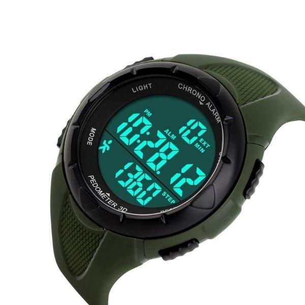 3d3d5de5450 Relógio Skmei Pedômetro Digital 1108 - Verde - Compre Agora