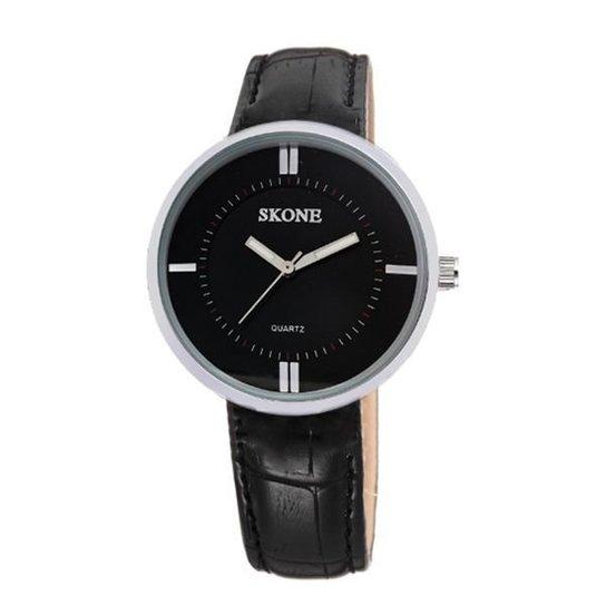Relógio Skone Analógico 9100 - Preto
