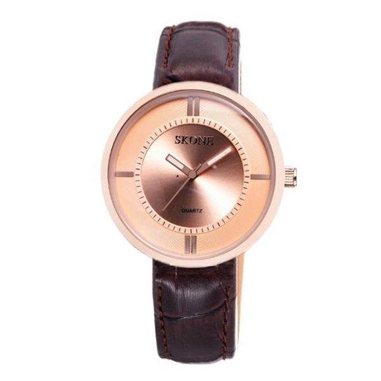 Relógio Skone Analógico 9100 - Rose Gold