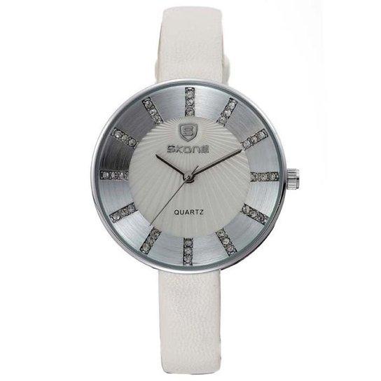 Relógio Skone Analógico 9250 - Branco
