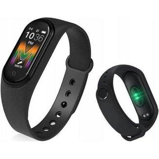 Relogio Smart M5 Inteligente Monitor Cardíaco Bluetooth