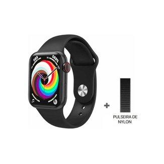 Relógio Smartwatch Hw18 Série 6 40mm + Pulseira Extra Nylon Preto