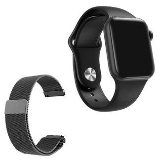 Relógio Smartwatch IWO 7 Watch 5 Android iOS + 1 Pulseira Extra de Aço