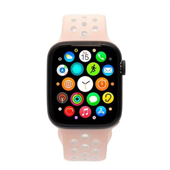 Relógio Smartwatch Sport Fitness Smart Bluetooth - Rosa+Branco