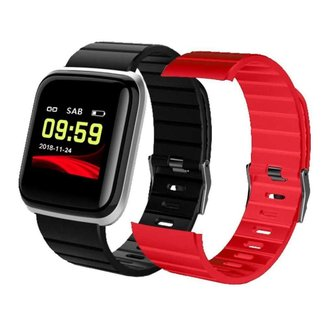 Relógio Smartwatch Tuguir Preto Com Prata - 11875