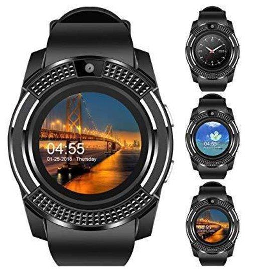 Relógio Smartwatch V8 Celular Inteligente Bluetooth Gear Chip Android iOS Touch - Preto
