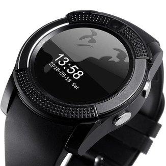 Relógio Smartwatch V8 Original Touch Bluetooth Gear Chip