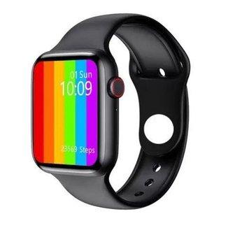 """Relógio Smartwatch W26 com Menu Colméia Tela 1.7"""" Série 6"""