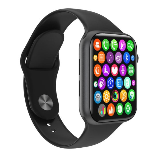 Relógio SmartWatch W34 S Smart Tech Monitor Cardíaco Android e iOS Masculino - Preto