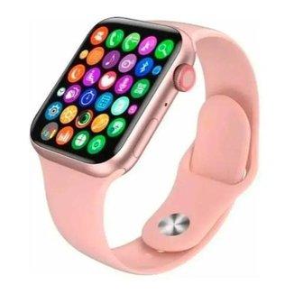 Relógio Smartwatch X8 Rosa Faz e Recebe Ligações