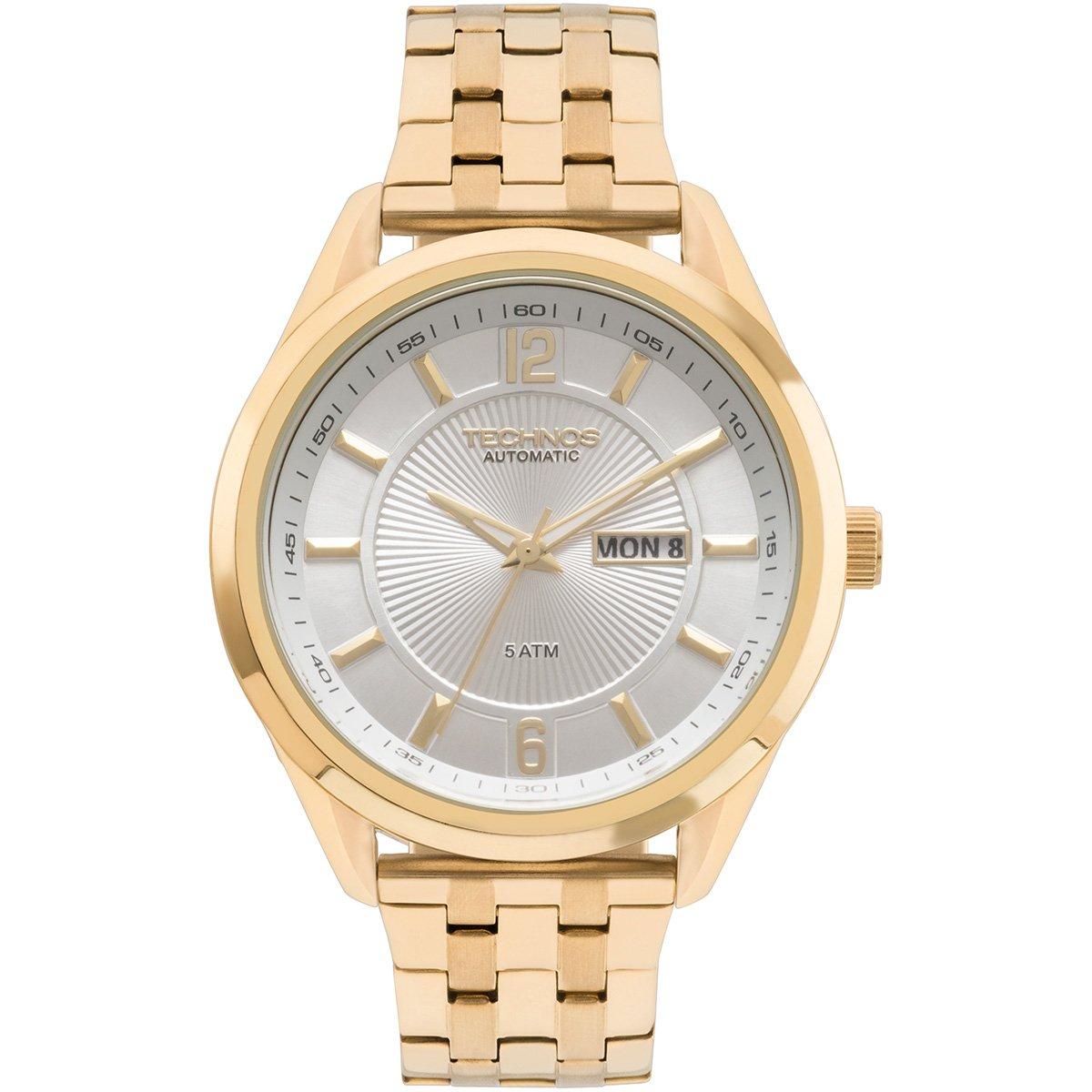 7e1c64f24cad4 Relógio Technos Analógico 8205NL4K Masculino - Dourado - Compre ...