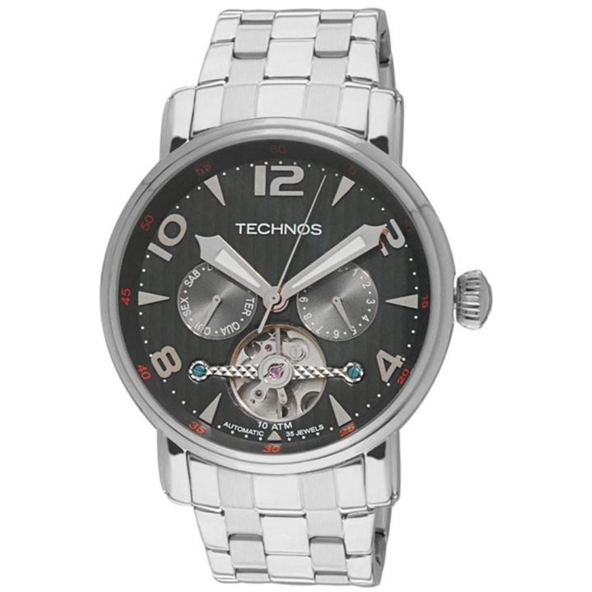 fbfdfb4dab8 Relógio Technos Automático 35 Jewels 2L27AA 1P - Compre Agora