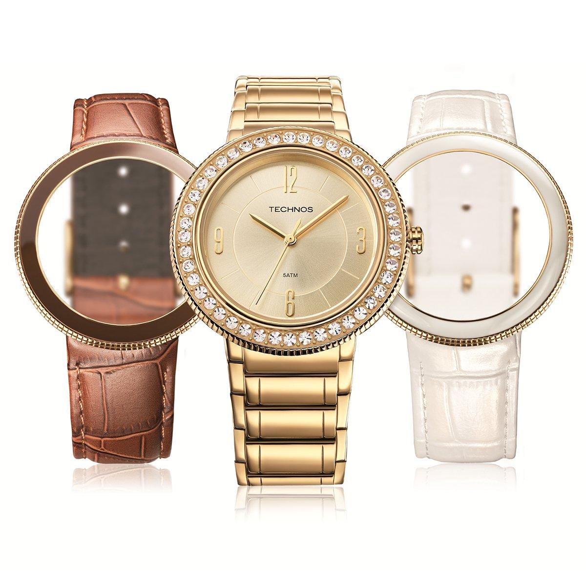 6074113329e Relógio Technos Cristal - Compre Agora