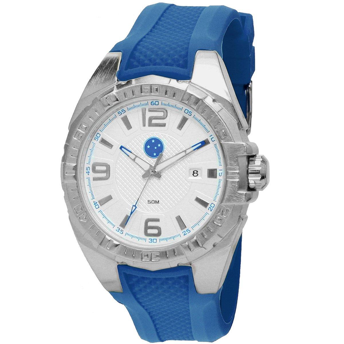 8d608b6ef00 Relógio Technos Cruzeiro Analógico III Calendário - Azul e Prata - Compre  Agora