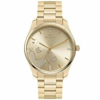 Relógio Technos Feminino Racer Dourado 2036MNY1X