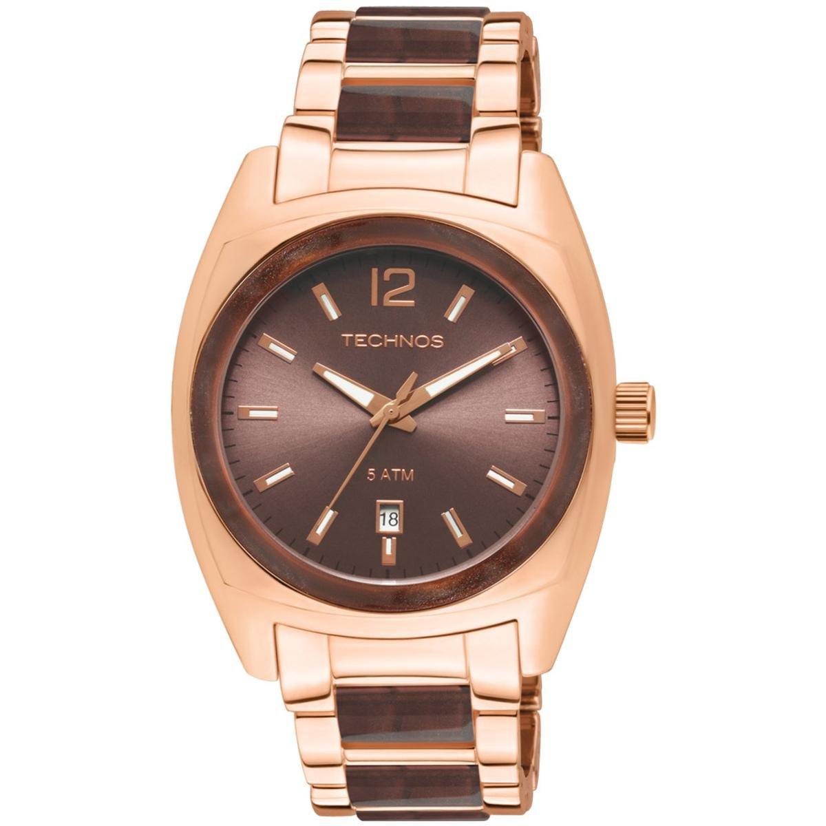 229c31b7248 Relógio Technos Feminino Rose Gold e Marrom - 2115UT 4M 2115UT 4M - Compre  Agora