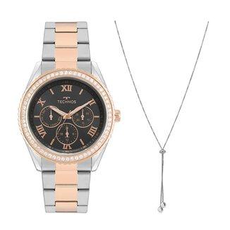 Relógio Technos Feminino Steel Prata 6P29AKEK5P
