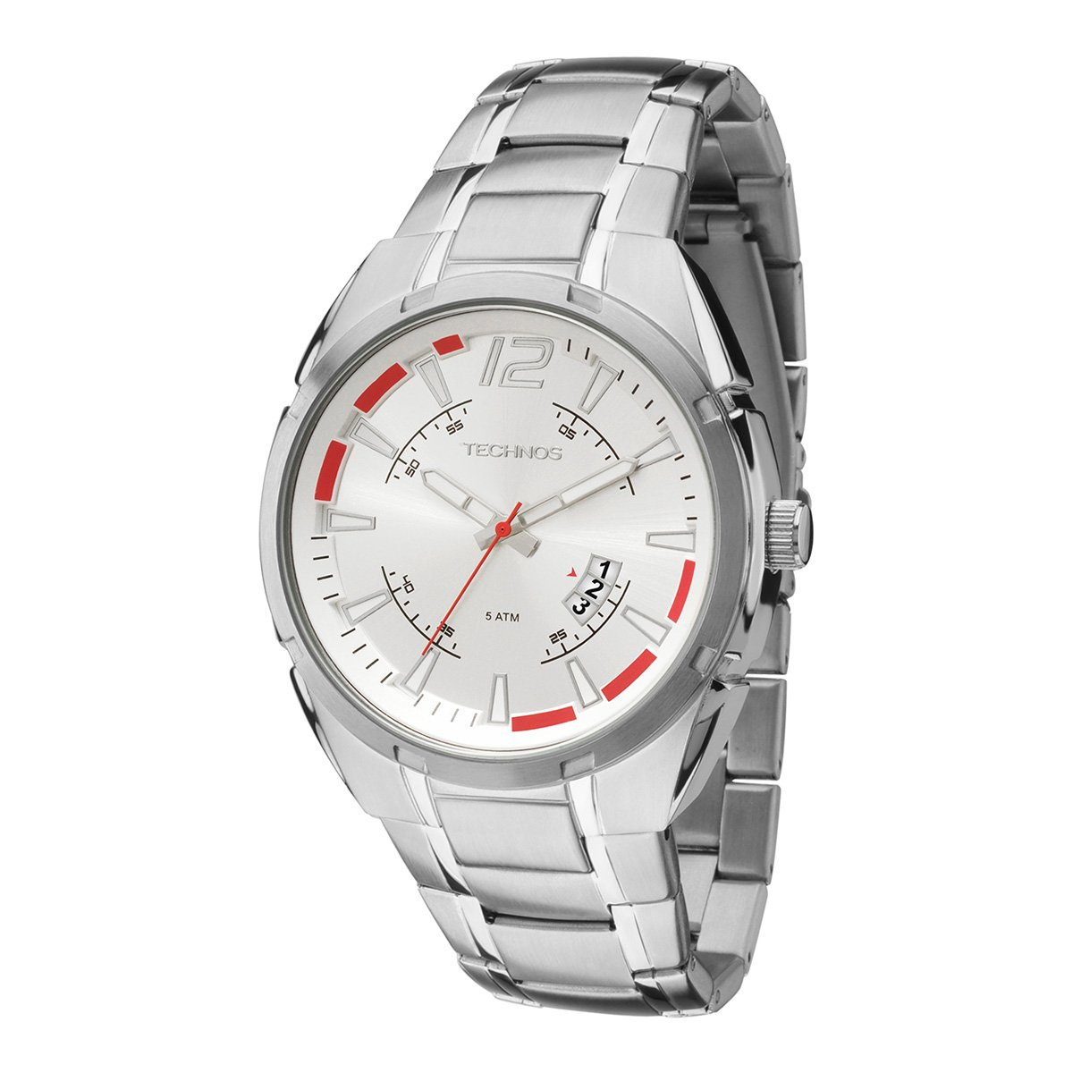 1ca24916e5d Relógio Technos Masculino 2115KTD1K - Prata - Compre Agora
