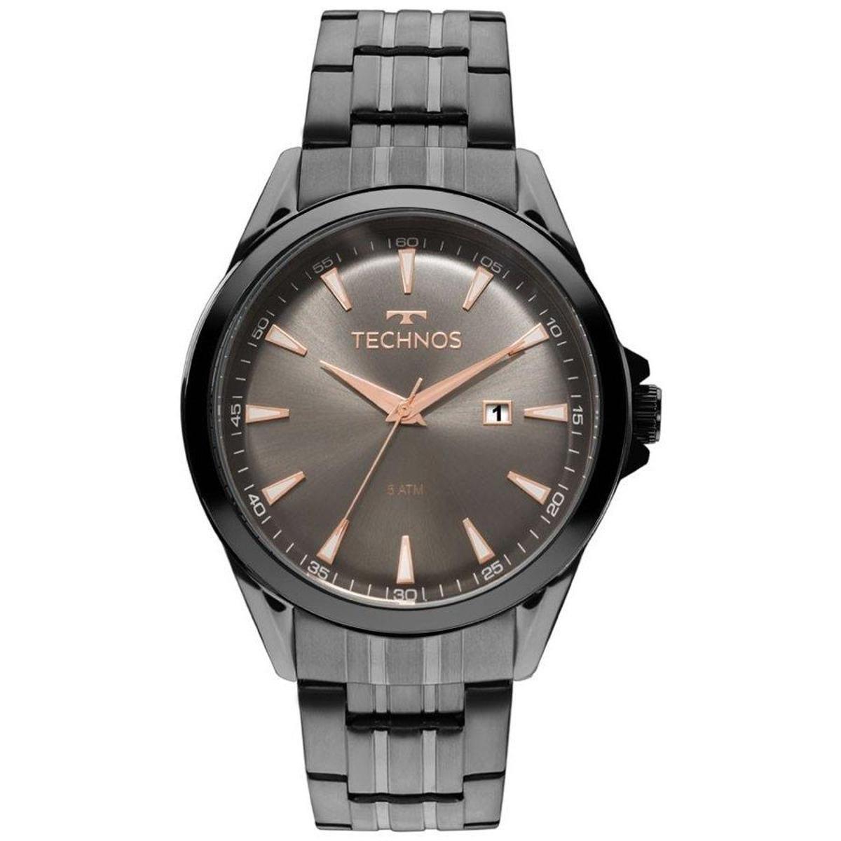 44c5a661d67e9 Relógio Technos Masculino 2115LAT 4C - Preto - Compre Agora