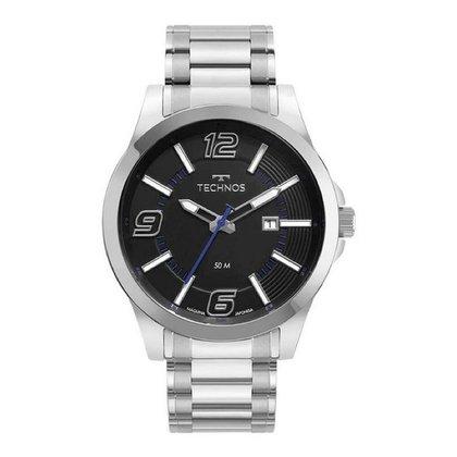 Relógio Technos Masculino  Prata Analógico 2115MWOS1P