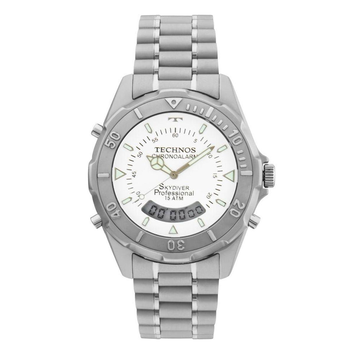 Relógio Technos Masculino Skydiver - T20562 1B T20562 1B - Prata ... 69db576cac