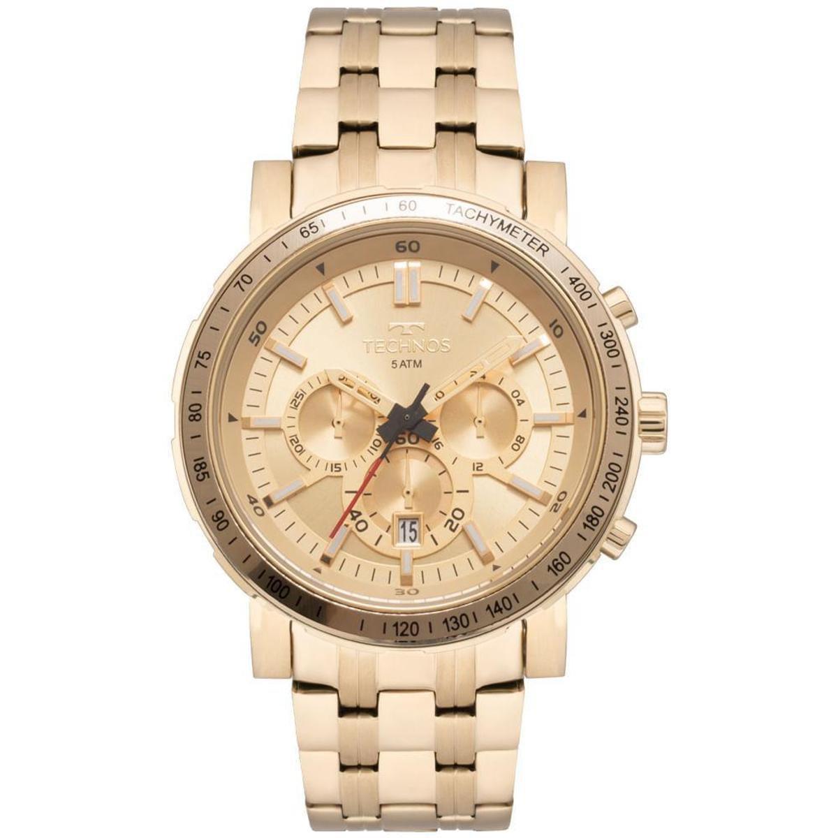 63d8b293965b4 Relógio Technos Masculino Skymaster - JS26AK 4X JS26AK 4X - Dourado -  Compre Agora