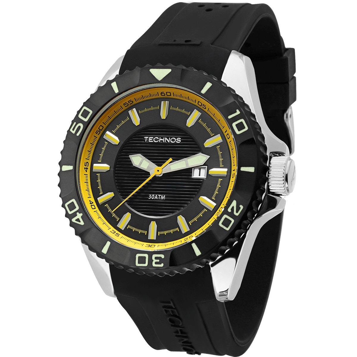 8d9495e5c51 Relógio Technos Performance Acqua. Relógio Technos Performance Acqua - Preto +Prata