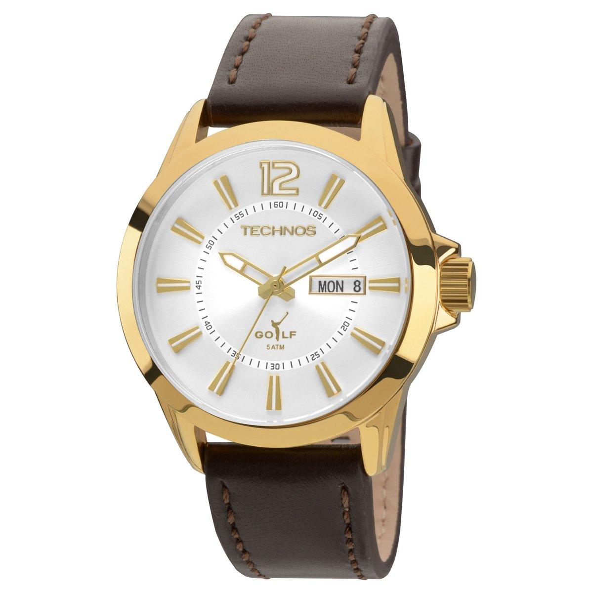 Relógio Technos Pulseira Couro - Compre Agora   Netshoes f9ed35536e
