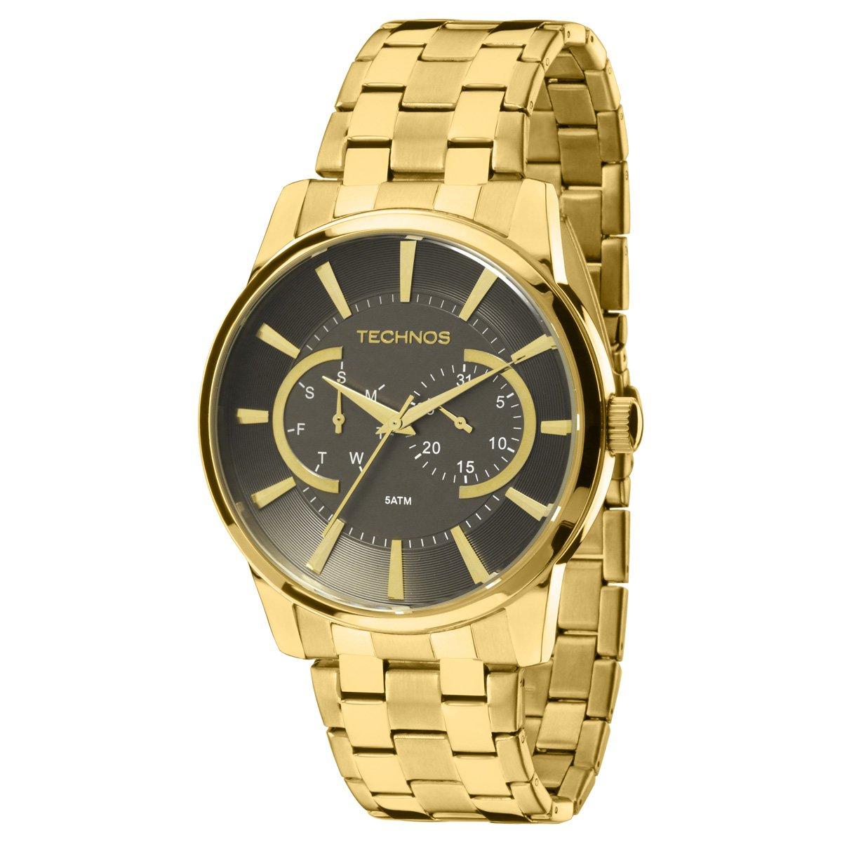 68f4bdbfb66 Relógio Technos Pulseira de Aço - Dourado - Compre Agora