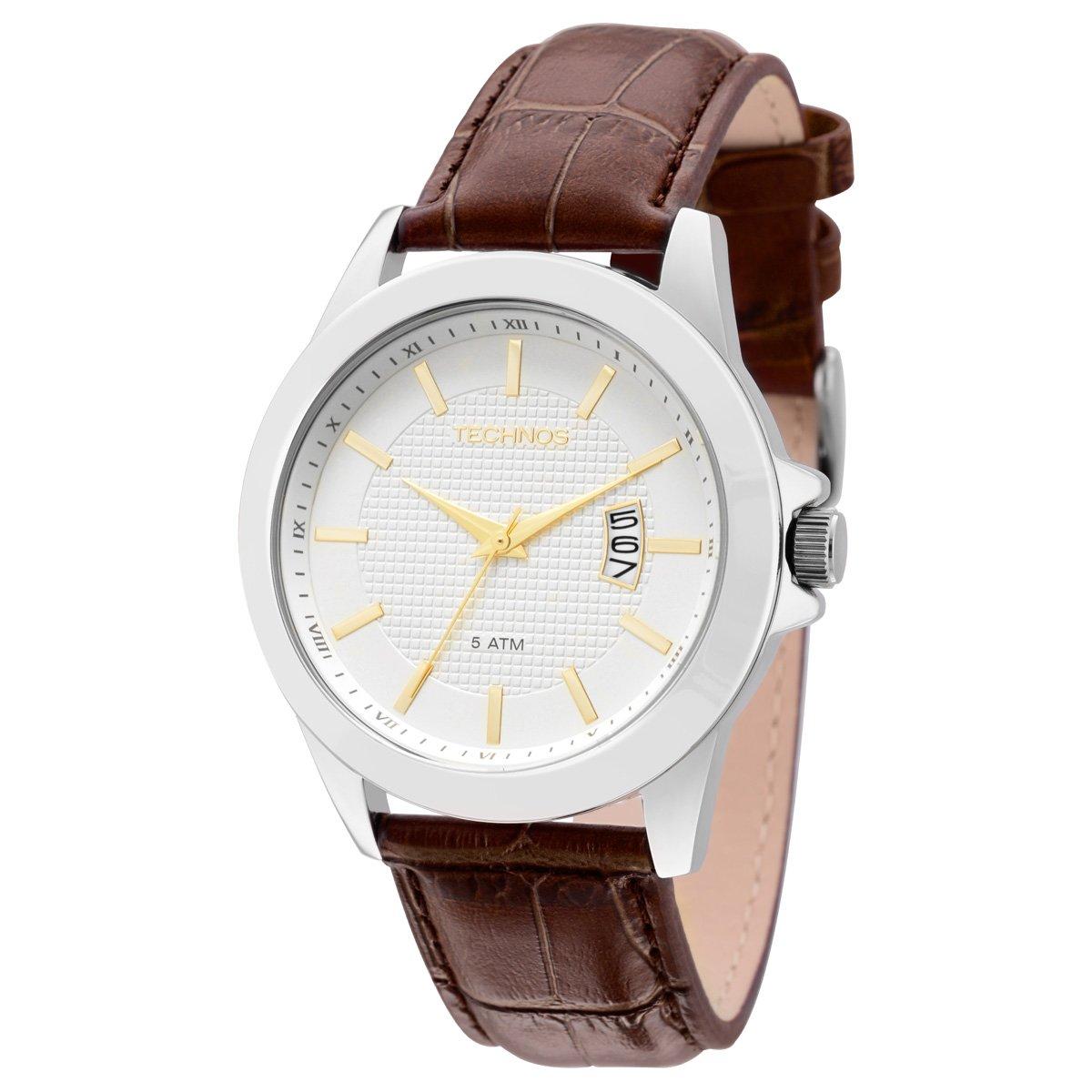 2ecb5587565 Relógio Technos Pulseira de Couro - Compre Agora