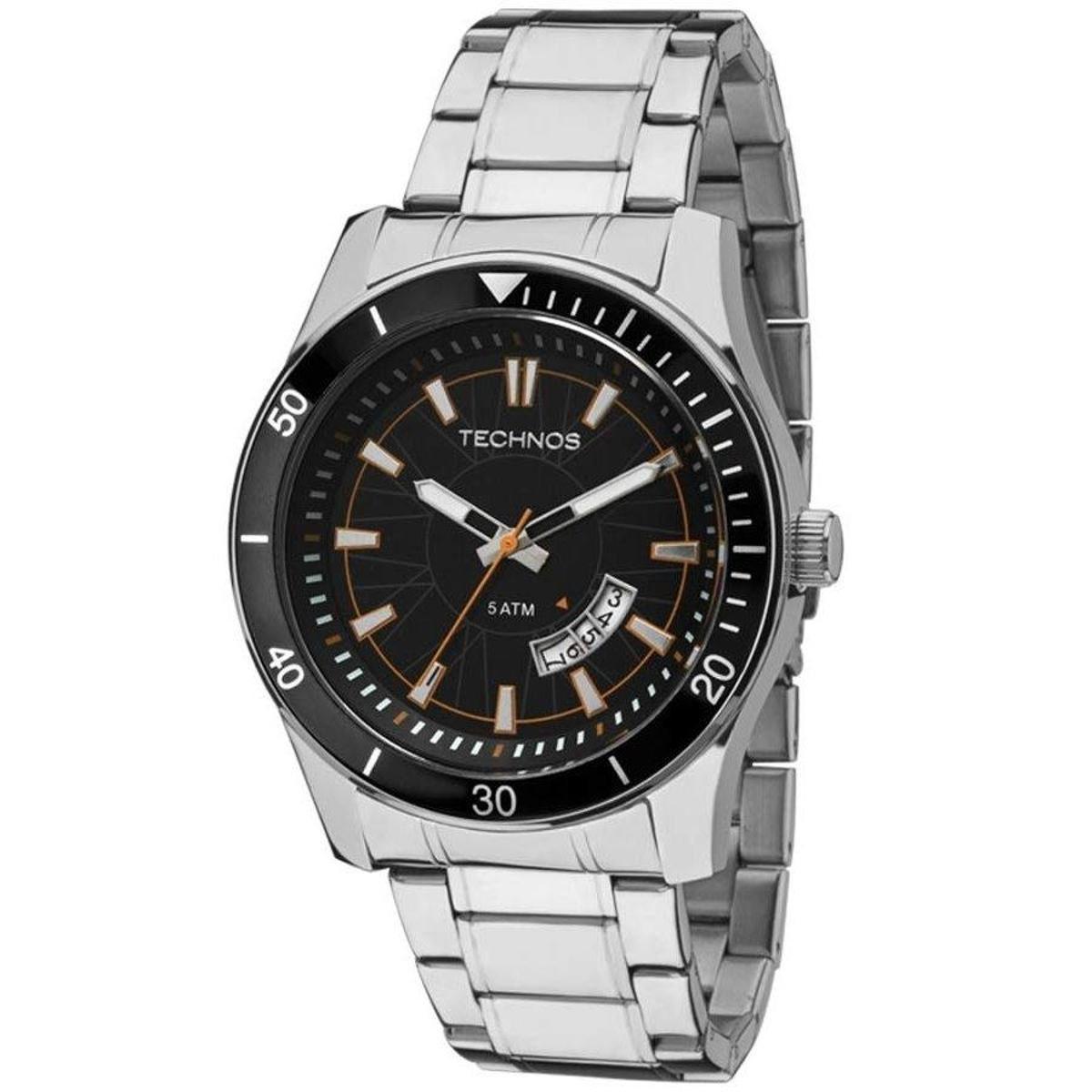03b90cf09bb Relógio Technos - Prata e Preto - Compre Agora