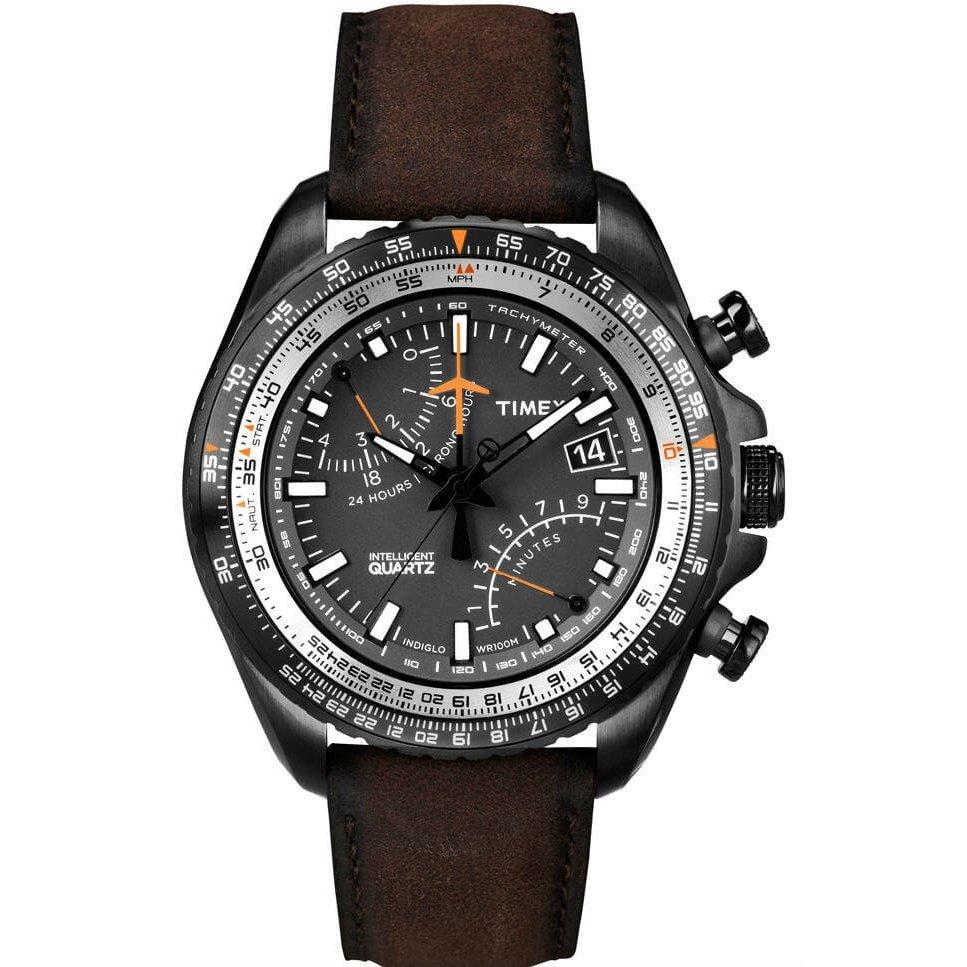 52111bc5c4352 RELÓGIO TIMEX IQ AVIATOR FLY-BACK CRONÓGRAFO T2P102PL TI - Compre Agora