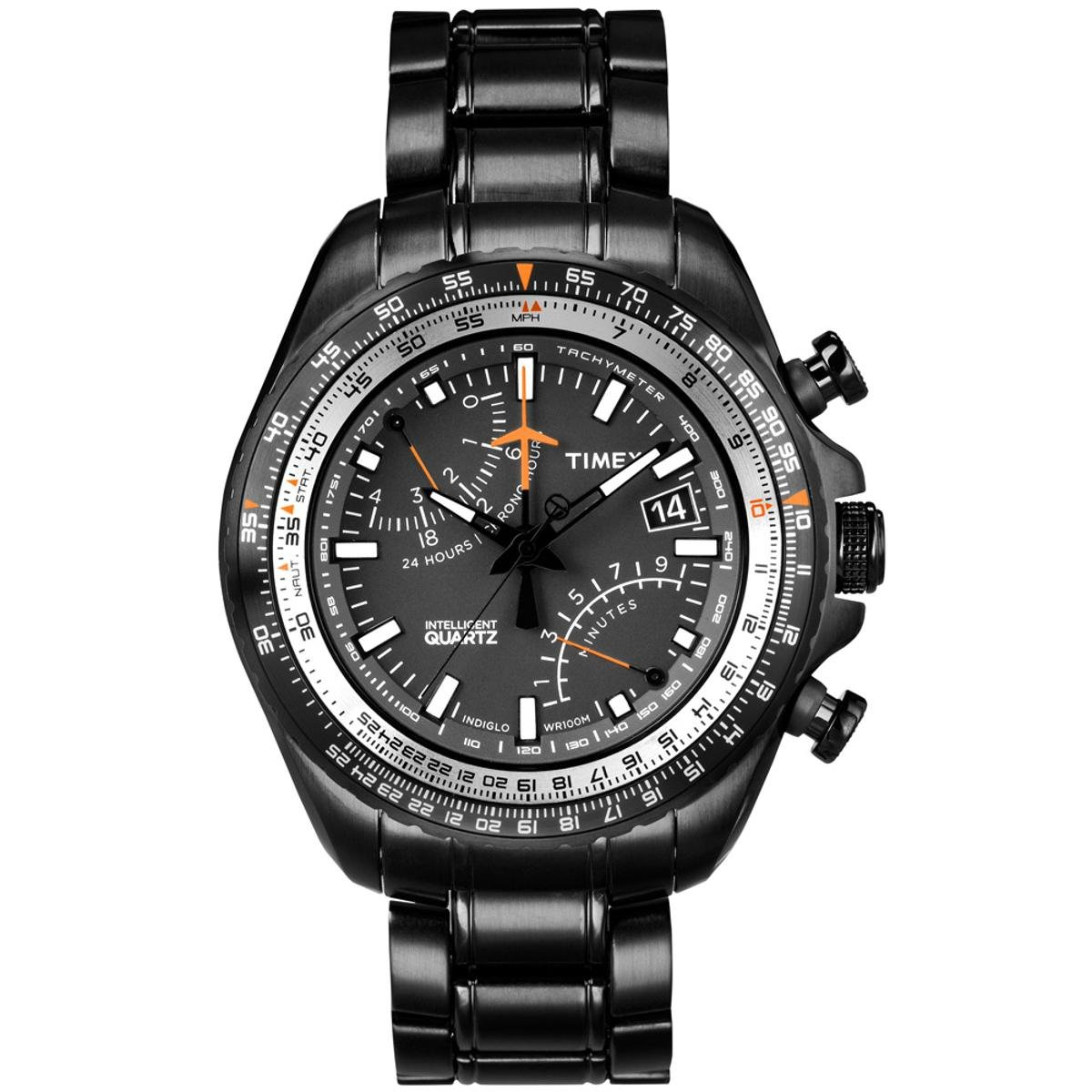 224bb26af15f Relógio Timex IQ Aviator Fly-back Cronógrafo T2P103PL TI Preto T2P103PL TI  - Compre Agora