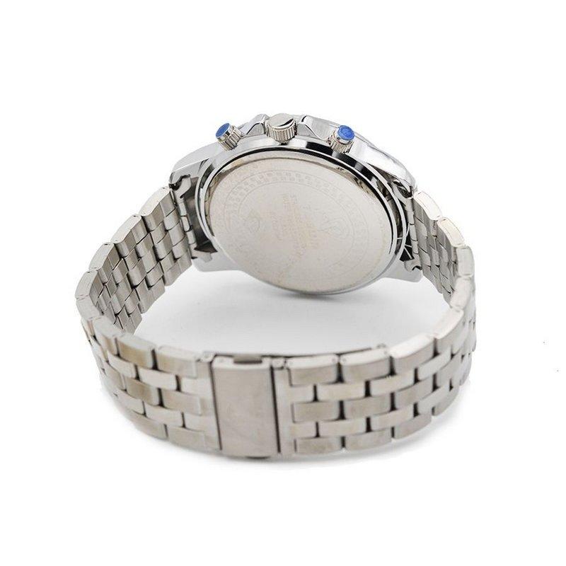 6882bb2ba84 Relógio Tuguir Analógico 5008 - Prata e Azul - Compre Agora