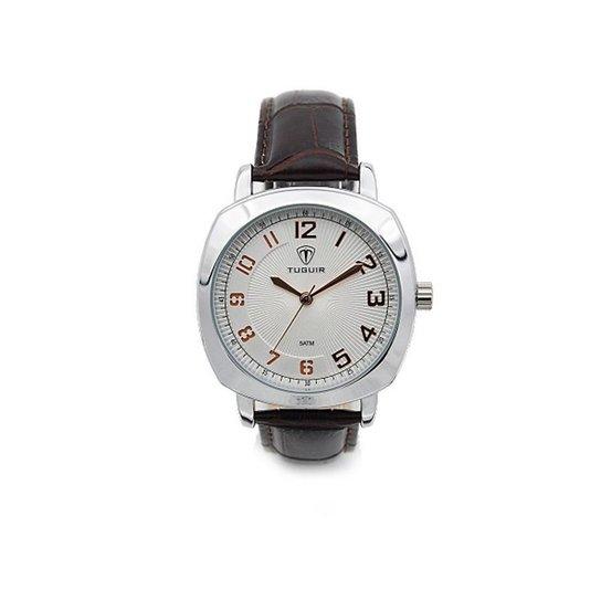 Relógio Tuguir Analógico 5015 - Marrom