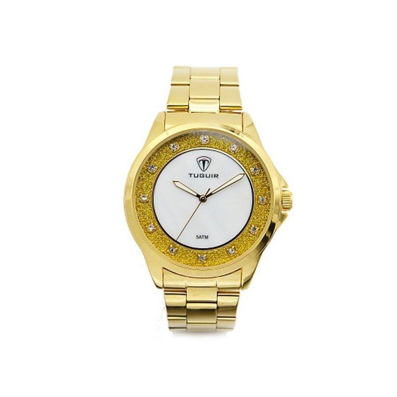 434543b93dc Relógio Tuguir Analógico 5025 - Dourado - Compre Agora