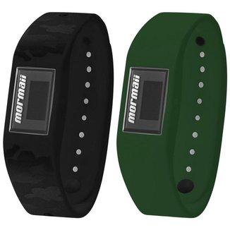 Relógio Unisex Mormaii Fit+ MOBO3963/8V 17mm Esportivo Pulseiras Camuflada e Verde