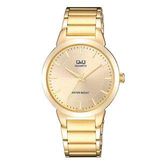Relógio Unissex Q&Q Clássico Analógico QA42J010Y Dourado