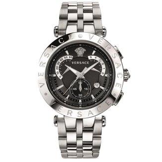 Relógio Versace Aço Inoxidável Mostrador Medusa 12h Casual