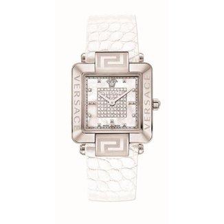 Relógio Versace Safira Diamantes 0,35ct Madrepérola Casual