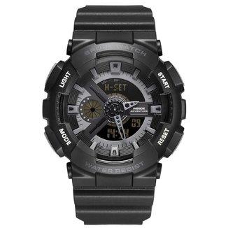 Relógio Weide AnaDigi WA3J8004 Masculino