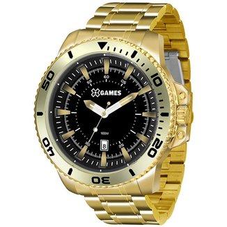 Relógio X-Games Masculino Xteel Dourado XMGS1024-P2KX