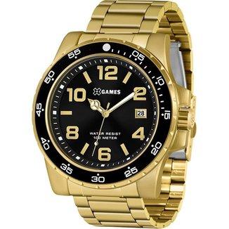 Relógio X-Games Masculino Xteel Dourado XMGS1030-P2KX