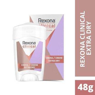 Rexona Clinical Creme Antitranspirante Pele Sensivel 48g
