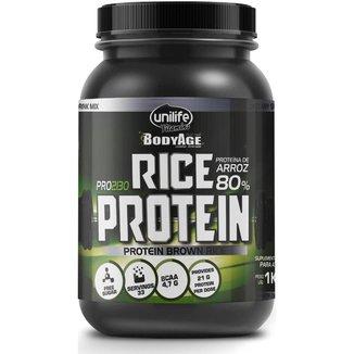 Rice Protein Proteína de Arroz Chocolate 1000g (1kg) Unilife